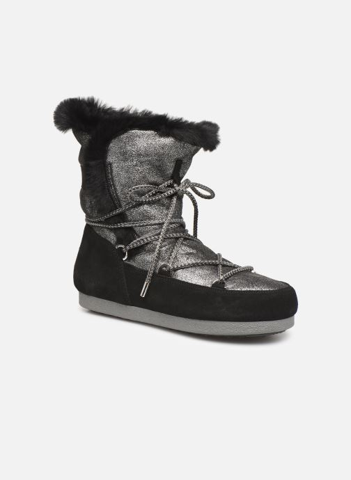 Chaussures de sport Moon Boot Moon Boot Far Side HIigh Shearling Argent vue détail/paire
