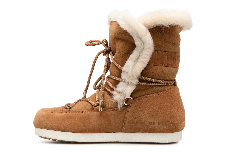 Chaussures de sport Moon Boot Moon Boot Far Side HIigh Shearling Marron vue face