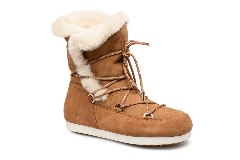 Chaussures de sport Moon Boot Moon Boot Far Side HIigh Shearling Marron vue détail/paire