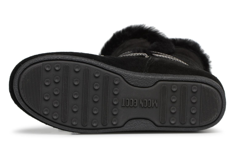 Chaussures de sport Moon Boot Moon Boot Far Side HIigh Shearling Noir vue haut