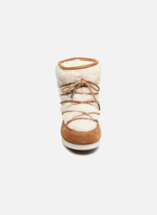 Chaussures de sport Moon Boot Moon Boot Far Side Low Shearling Marron vue portées chaussures