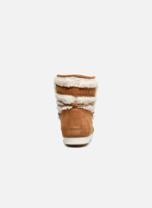 Sport shoes Moon Boot Moon Boot Far Side Low Shearling Brown view from the right