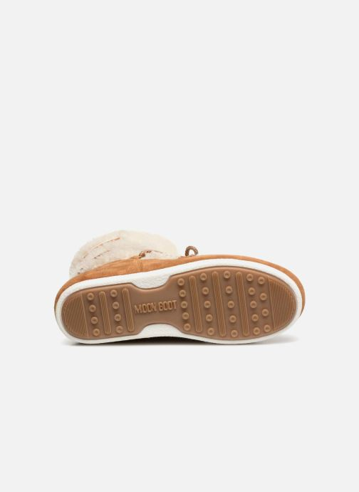 Chaussures de sport Moon Boot Moon Boot Far Side Low Shearling Marron vue haut
