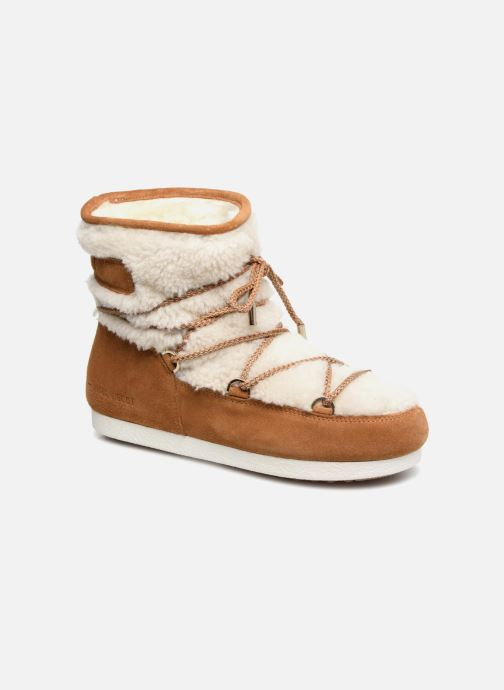 Chaussures de sport Moon Boot Moon Boot Far Side Low Shearling Marron vue détail/paire