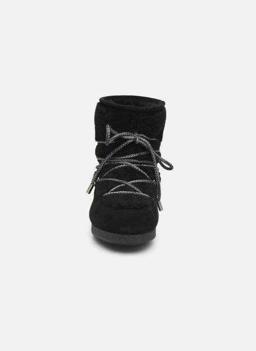 Scarpe sportive Moon Boot Moon Boot Far Side Low Shearling Nero modello indossato