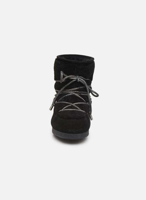 Chaussures de sport Moon Boot Moon Boot Far Side Low Shearling Noir vue portées chaussures