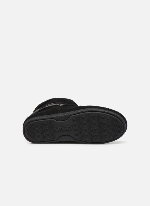 Chaussures de sport Moon Boot Moon Boot Far Side Low Shearling Noir vue haut
