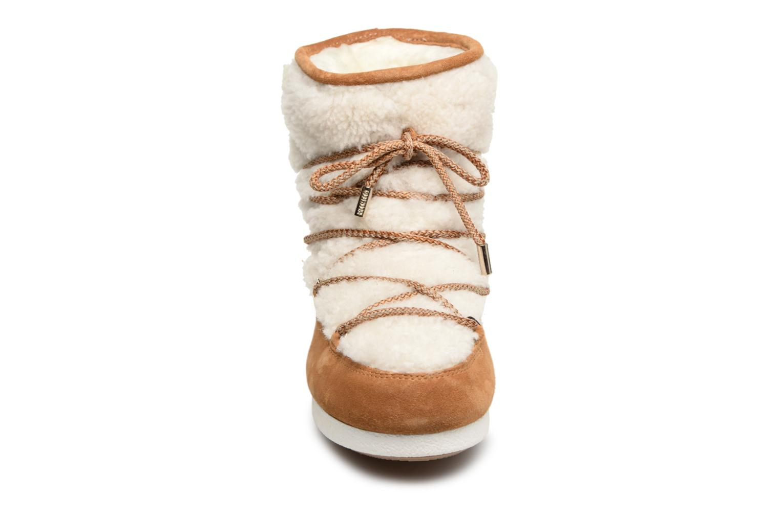Chaussures de sport Moon Boot Moon Boot Far Side Low Shearling Marron vue portées chaussures