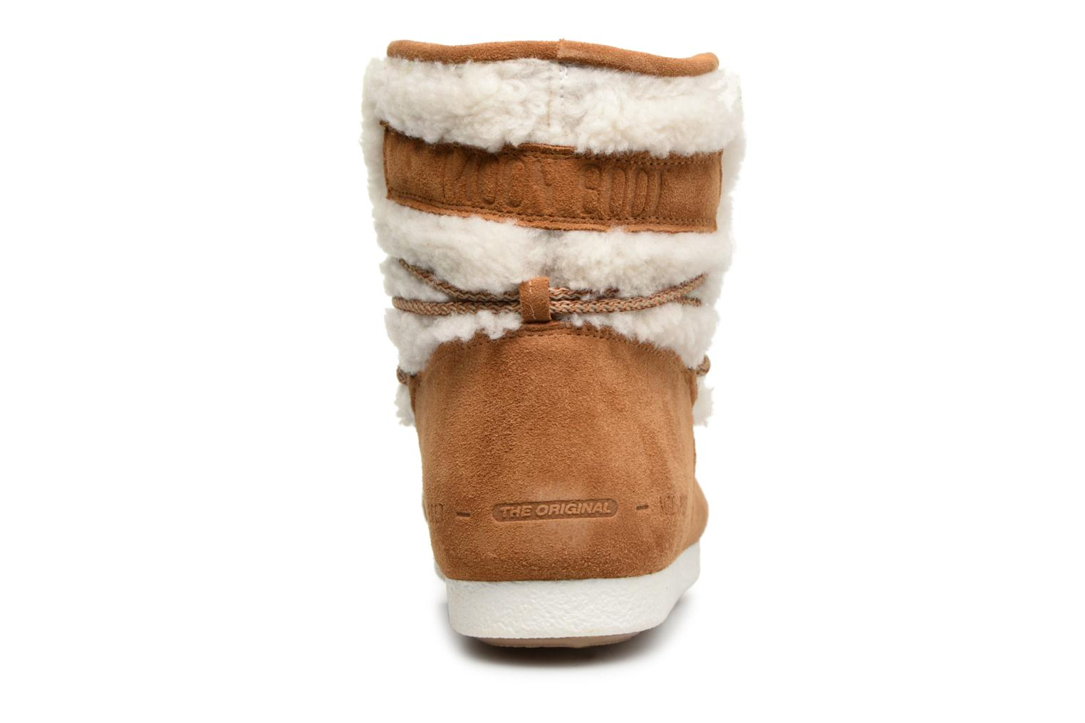 Chaussures de sport Moon Boot Moon Boot Far Side Low Shearling Marron vue droite