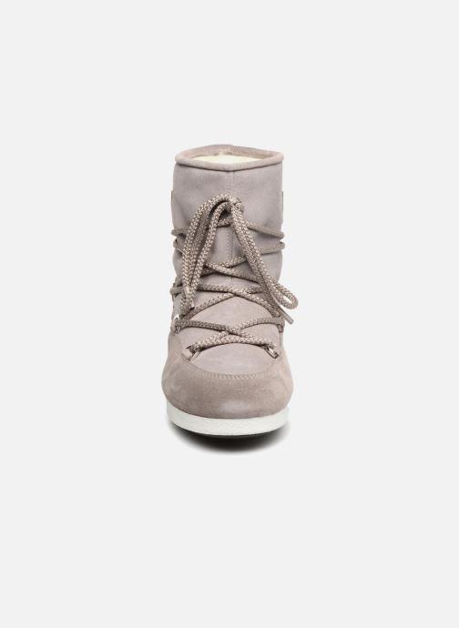 Sportschuhe Moon Boot Moon Boot Far Side Low Suede Glitter grau schuhe getragen