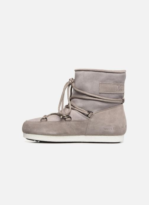 Sport shoes Moon Boot Moon Boot Far Side Low Suede Glitter Grey front view