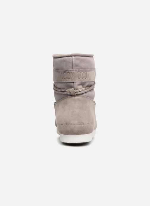 Sport shoes Moon Boot Moon Boot Far Side Low Suede Glitter Grey view from the right