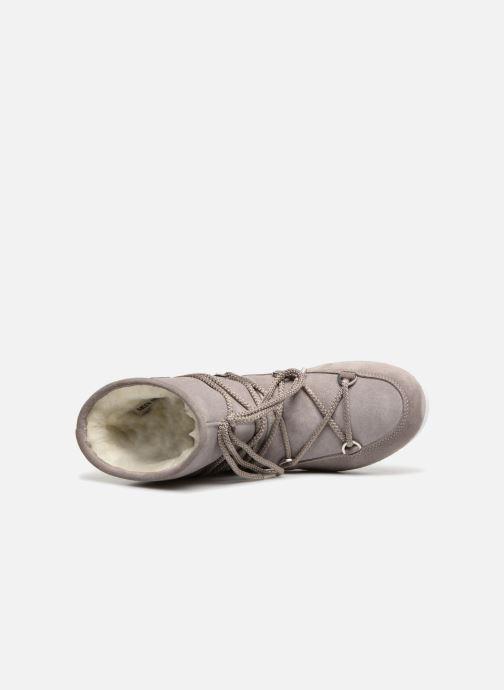 Sportschuhe Moon Boot Moon Boot Far Side Low Suede Glitter grau ansicht von links