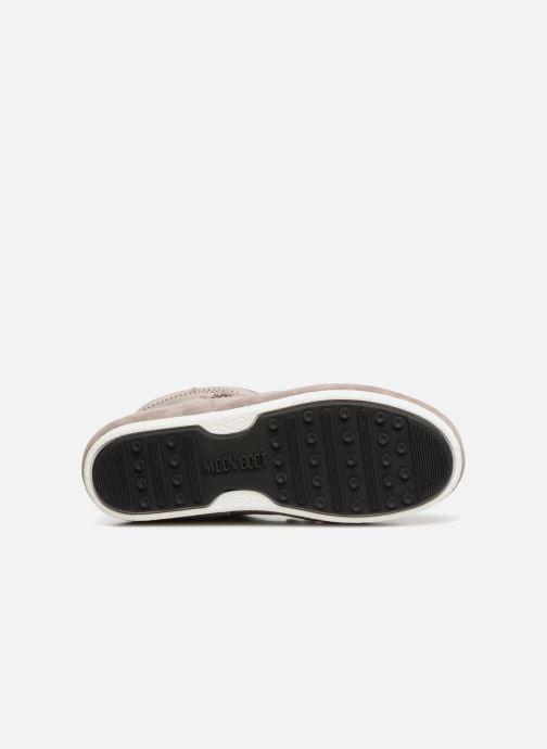 Chaussures de sport Moon Boot Moon Boot Far Side Low Suede Glitter Gris vue haut
