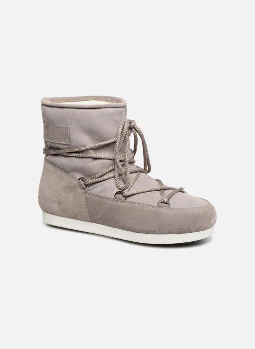 Chaussures de sport Moon Boot Moon Boot Far Side Low Suede Glitter Gris vue détail/paire