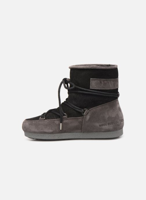 Chaussures de sport Moon Boot Moon Boot Far Side Low Suede Glitter Noir vue face