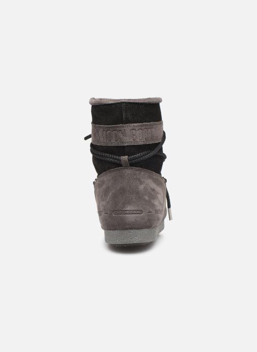 Chaussures de sport Moon Boot Moon Boot Far Side Low Suede Glitter Noir vue droite