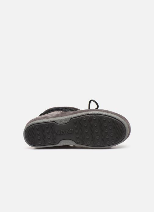 Chaussures de sport Moon Boot Moon Boot Far Side Low Suede Glitter Noir vue haut