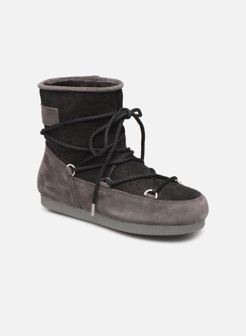 Chaussures de sport Moon Boot Moon Boot Far Side Low Suede Glitter Noir vue détail/paire