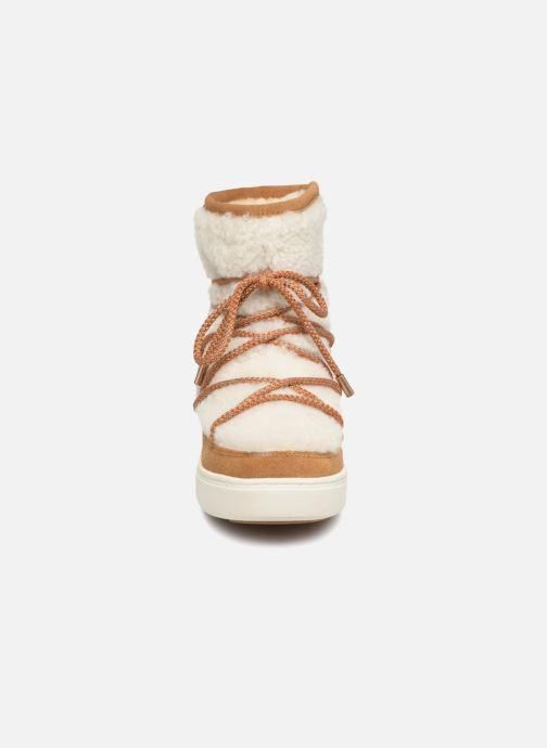Chaussures de sport Moon Boot Moon Boot Pulse Mid Wool Beige vue portées chaussures