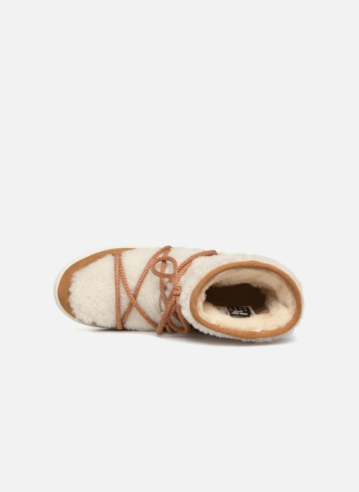Zapatillas de deporte Moon Boot Moon Boot Pulse Mid Wool Beige vista lateral izquierda