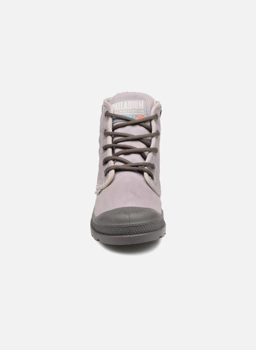 Bottines et boots Palladium Pampa Hi Tex WL Waterproof Gris vue portées chaussures