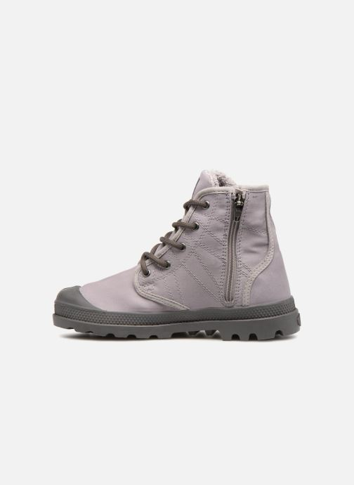 Bottines et boots Palladium Pampa Hi Tex WL Waterproof Gris vue face