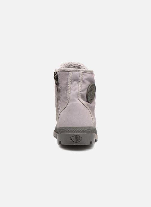 Bottines et boots Palladium Pampa Hi Tex WL Waterproof Gris vue droite