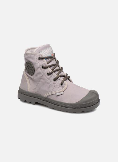 Bottines et boots Palladium Pampa Hi Tex WL Waterproof Gris vue détail/paire