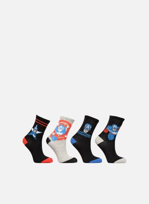 Strømper og tights Disney Captain America Lot de 4 Sort detaljeret billede af skoene