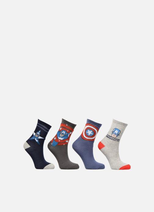 Strømper og tights Disney Captain America Lot de 4 Blå detaljeret billede af skoene