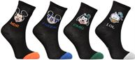 Chaussettes Emoji Mickey-Donald-Dingo Lot de 4