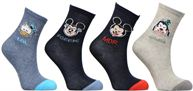 Chaussettes Emoji Mickey-Donald-Dingo Lot de 4