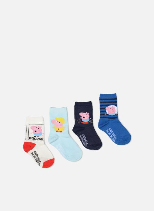 Sokken en panty's Disney Chaussettes Pepa Pig Lot de 4 Blauw detail