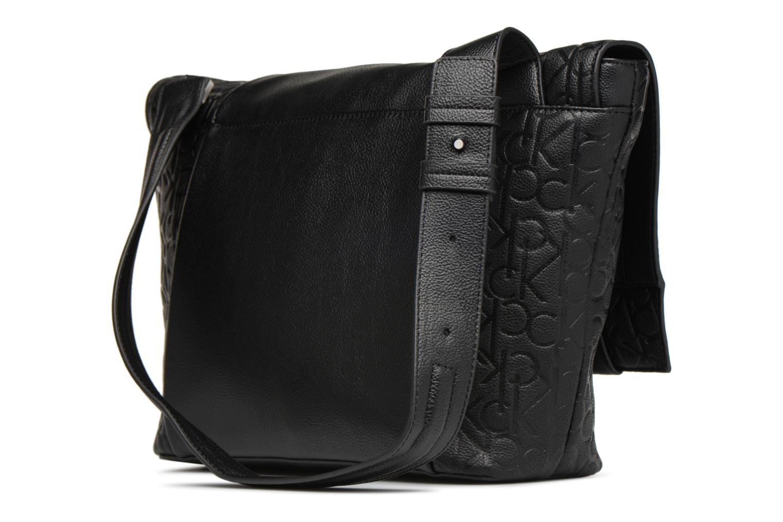 Sacs homme Calvin Klein MEDIUM SHOULDER BAG Noir vue droite
