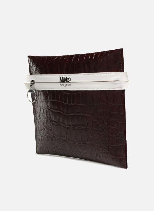 Sacs pochettes MM6 Martin Margiela S41UM0012 Violet vue portées chaussures