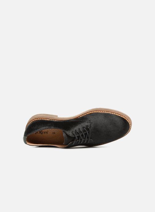 Zapatos con cordones Kickers OXFORKPONY Negro vista lateral izquierda