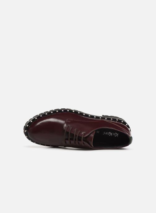 Chaussures à lacets Kickers ROLLIE Bordeaux vue gauche