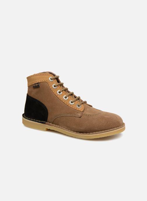 Bottines et boots Kickers ORILEGEND F MULTI Marron vue détail/paire