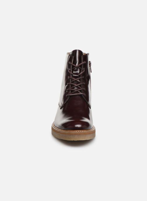 Stiefeletten & Boots Kickers OXIGENO weinrot schuhe getragen