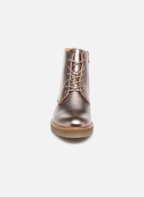 Bottines et boots Kickers OXIGENO Or et bronze vue portées chaussures