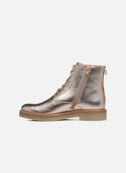 Bottines et boots Kickers OXIGENO Or et bronze vue face