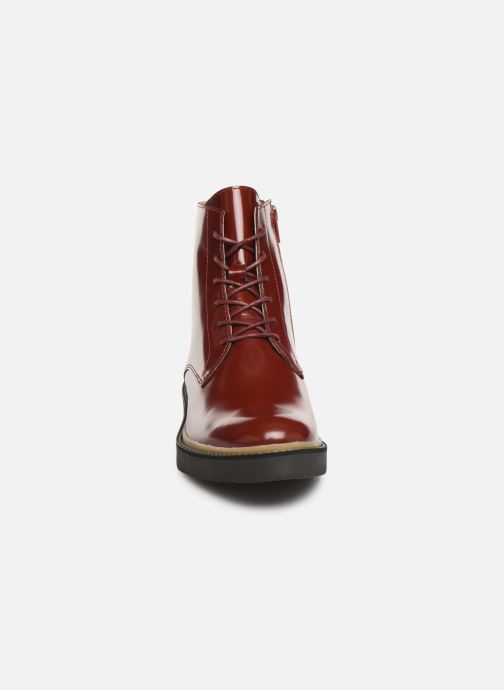 Stiefeletten & Boots Kickers OXIGENO rot schuhe getragen