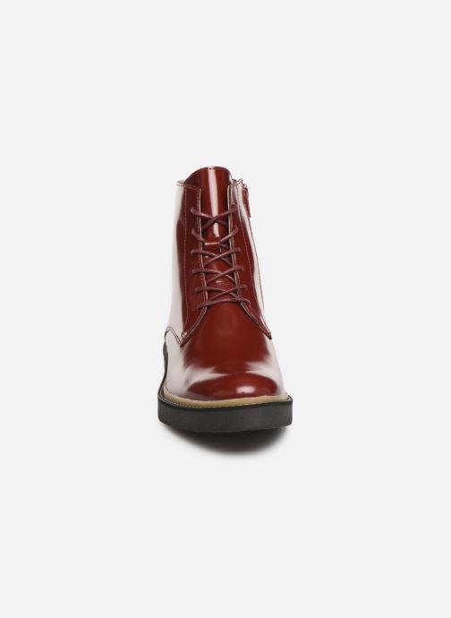 Bottines et boots Kickers OXIGENO Rouge vue portées chaussures