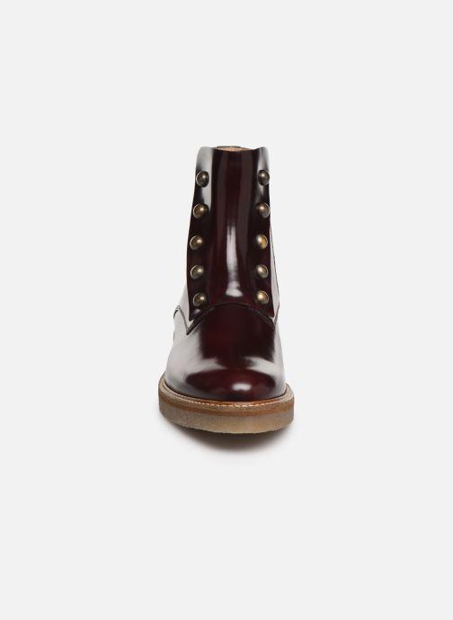 Bottines et boots Kickers OXCIRCLE Bordeaux vue portées chaussures