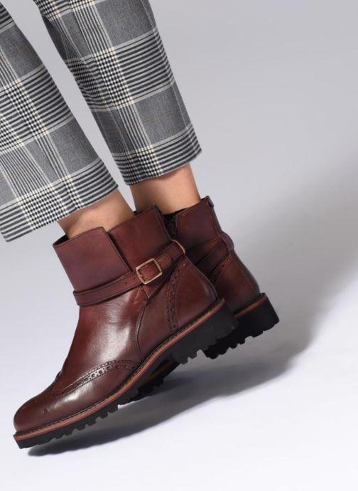 Bottines et boots Kickers RHUM Marron vue bas / vue portée sac