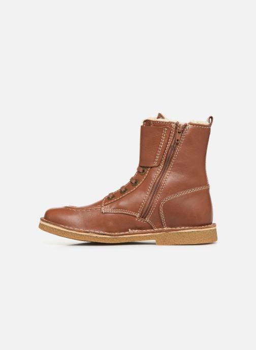 Boots en enkellaarsjes Kickers MEENELY Bruin voorkant