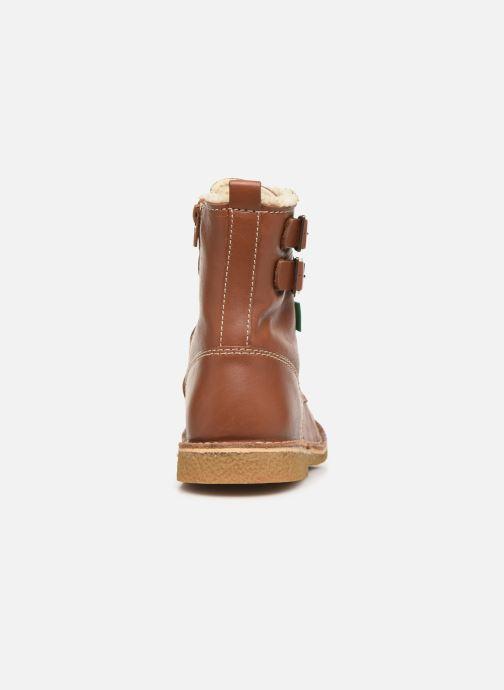 Boots en enkellaarsjes Kickers MEENELY Bruin rechts