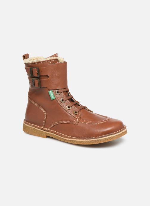 Boots en enkellaarsjes Kickers MEENELY Bruin detail