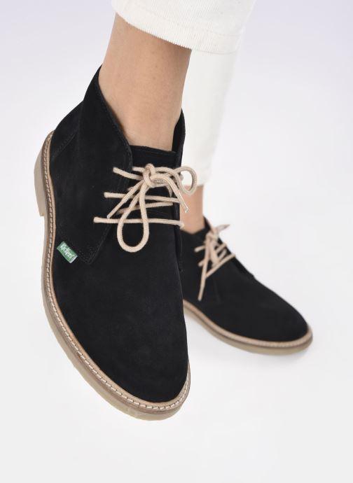 Bottines et boots Kickers TYL F Noir vue bas / vue portée sac